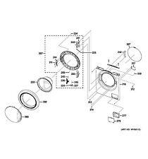 NEW OEM GE Washing Machine DOOR GLASS WH46X10228
