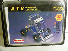"New Vintage Remco ""STEEL TEC"" (1993 Edition) Construction Set - A.T.V. 83-Pieces"