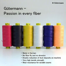 Gutermann Mara 30 100% Polyester Thread Assorted 6 Spools Top Stitch 6 choices