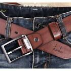 New Fashion Genuine Leather Waistband Men's Pin Metal Buckle Waist Strap Belt