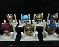 lot of 7 Saint Seiya Anime Petit Chara Land Gold PVC Figures 3.5cm LOOSE #KJN9