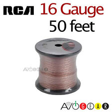 16AWG Gauge, 50' feet RCA Speaker Cable for Home Theater Speakers/Receiver NEW