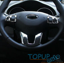 FIT FOR KIA SPORTAGE 10- CHROME STEERING WHEEL PANEL COVER BADGE INSERT TRIM