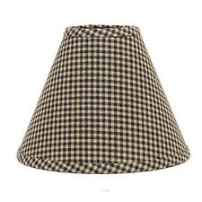 14 inch Black Check Lamp Shade Home Collection by Raghu Newbury Gingham Cotton
