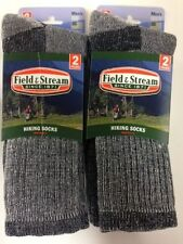 4 Pair Men's Field & Stream Merino Wool Crew Hiking Socks 10-13