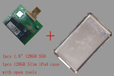 """For iPod classic iPod video 128GB SSD 1.8"""" with case replace MK8022GAA MK1231GAL"""