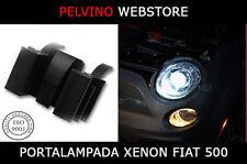 """COPPIA 2 ADATTATORI PORTA LAMPADE H7 XENON SPECIFICO """"FIAT 500"""" 100% COMPATIBILE"""