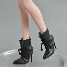 "shoes for 1/6 female phicen seamless 12"" verycool hot toys stuff Black 36vsos1"