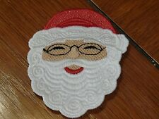 Embroidered Magnet - Christmas - Santa Face