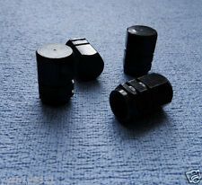 4x Aluminum BLACK Wheel Tyre Tire Valve Stems Air Dust Caps Cover for Car Bike