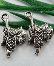 Wholesale Free Ship 40pcs tibet silver saddle Charms 22x12mm