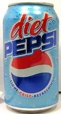 """EMPTY UNOPENED OLD STYLE 12oz 355ml Can """"Standard"""" American Diet Pepsi USA 2005"""