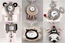 Wholesale Job Lot Animal Pendant Necklace Ladies Girl Watch w/ Swarovski Crystal
