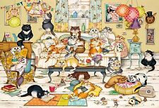 NEW! Gibsons Family Life by Linda Jane Smith 500 piece cats jigsaw puzzle