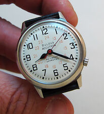 SERVICED VINTAGE ACCUTRON RAILROAD STAINLESS STEEL TUNING FORK MEN'S WATCH M9