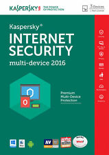 Kaspersky Internet Security 2016 Multi Dispositivo 3 Pc-Nuevo-descarga