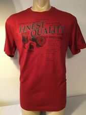 Men's BOSSINI Red T-Shirt Size XXL