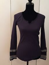 Nordstrom Elodie Navy Blue Henley Long Sleeve Top NWT Fall Fashion