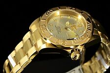 Rare Invicta 200M Pro Diver 24 Jewel Automatic Scalloped Bezel 18K Gold IP Watch