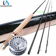 "2WT Fly Rod and Reel Combo 6'6"" Medium-Fast Fly Fishing Rod & Classic Fly Reel"