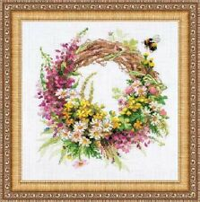"""Counted Cross Stitch Kit RIOLIS - """"Wreath with Fireweed"""""""
