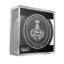 2016 NHL Penguins v Sharks Stanley Cup Final Game Two On-Ice Hockey Puck W/Cube
