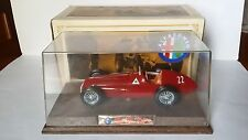 ALFA ROMEO ALFETTA 158-159 MEBETOYS 1/24 WITH ORIGINAL BOX AND DISPLAY CASE