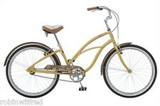 "New LADIES YELLOW CRUISER BIKE single speed 26"" wheel, 16"" frame, FLAIR"