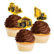 CONSTRUCTION Zone CUPCAKE TOPPERS Birthday Party Baking Supplies Decorations