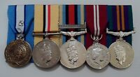 Court Mounted Full Size Medals, Cyprus, Iraq, Afghan, Diamond Jubilee, ACSM, Op