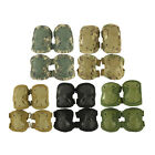 2x Adjustable Airsoft Tactical Combat Knee and Elbow Protector Pads Set 5 Colors