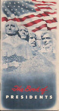 THE BOOK OF PRESIDENTS (1956) Baltimore Family Finance pocket booklet