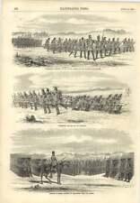 1856 Guerrieri avanzando verso l'attacco in pensione sulla supporta