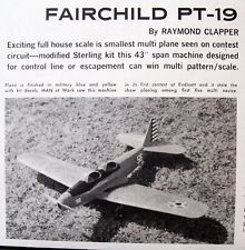 Vintage PT-19 Updated Sterling RC Model Airplane PLAN + Construction Article