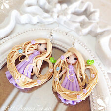 Orecchini Coppia Rapunzel Cute Disney Earrings Fimo Polymer Clay Kawaii Princess