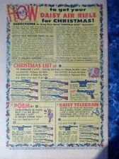 ORIGINAL CHRISTMAS Vintage 1960's DAISY AIR RIFLE CHRISTMAS CHECKLIST AD
