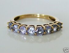 Beautiful 9ct Gold Tanzanite Eternity Ring Size L