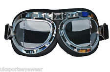STEAMPUNK GOGGLES GOTHIC  COSPLY AVIATOR WITH CLEAR LENSES