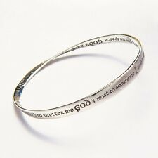 St. Patrick Bracelet Bangle Inspirational Message STERLING SILVER God's Power