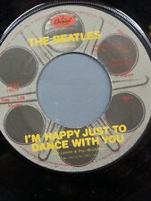 """THE BEATLES 45 RPM - """"I'm Happy Just to Dance With You"""" """"Movie Medley"""" VG cond."""