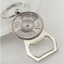 Perpetual Calendar And Bottle Opener Keyfob Keyring Keychain Metal Beer Bar Tool