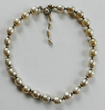 "Vintage Faux Pearls Signed Miriam Haskell 17"" Strand #108"
