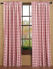 """Buffalo Red Check Country Curtain Panel Set of 2 by Victorian Heart - 84 x 40"""""""