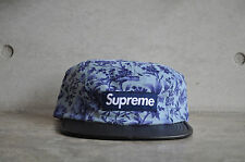 Supreme x Liberty Pinwale Cord Blue Floral Box Logo Camp Cap