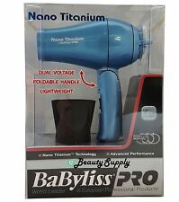 BaByliss Pro Nano Titanium Foldable Handle Travel Dryer NEW SEALED!!