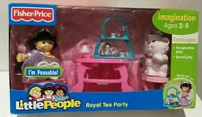 FISHER PRICE LITTLE PEOPLE SONYA LEE & KITTY ROYAL TEA PARTY PLAY SET NEW XMAS ♡