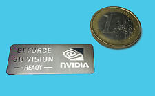 NVIDIA GEFORCE 3D VISION METALISSED CHROME EFFECT STICKER AUFKLEBER 35x14mm [36]