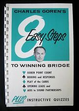 Vintage Charles Goren Contract Bridge Game 8 Easy Steps to Winning Tips Booklet