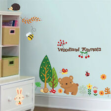 Vinyl Removable Bear/Bee/Plant Wall Stickers Nursery Baby Room Decal Kids Art