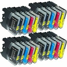 20 Pack LC-61 LC61 Ink Set Fits Brother MFC-250C MFC-295CN MFC-385CW MFC-490CW